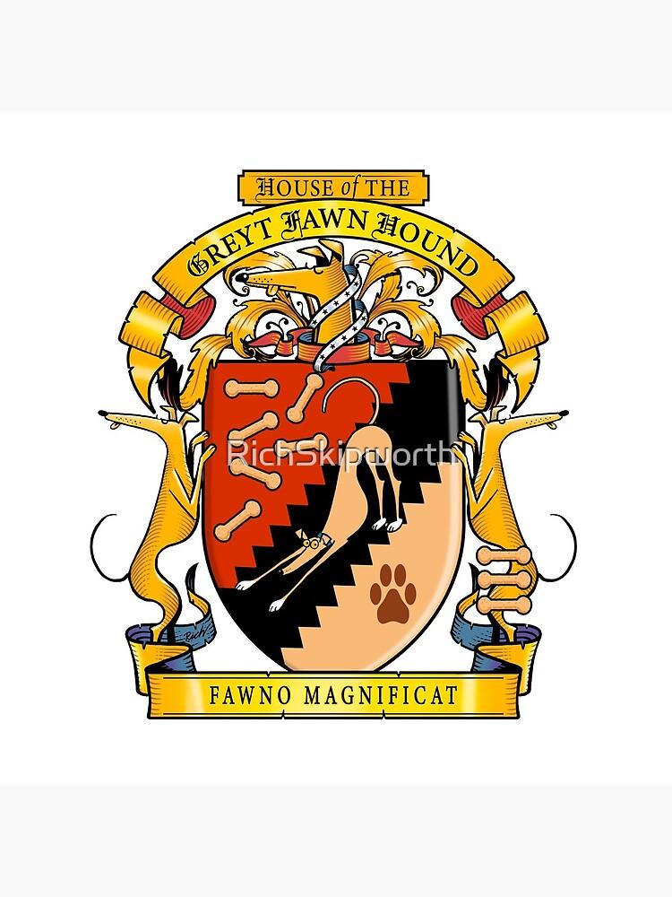 Greyhound Heraldry: Greyt Fawn Hound by RichSkipworth