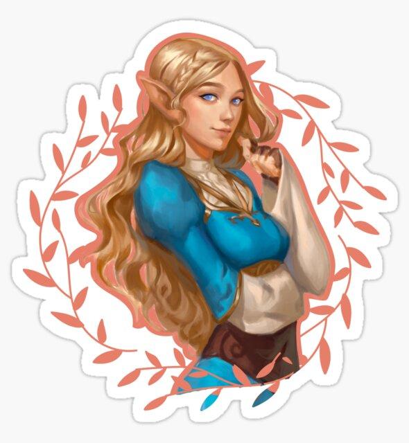 Princess Zelda Breath of the Wild by Ansel V