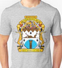 Greyhound Heraldry: Greyt Dark Brindle Hound Unisex T-Shirt