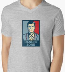 Sterling Archer Danger Zone Shirt Poster Sticker Men's V-Neck T-Shirt
