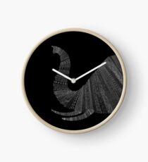 Elefant Schwarz Uhr