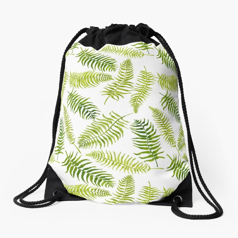 Fern Limelight Drawstring Bag