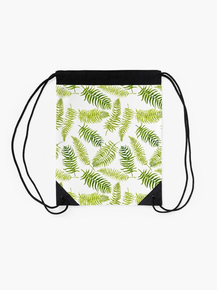 Alternate view of Fern Limelight Drawstring Bag