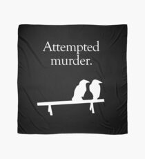 Attempted Murder (White design) Scarf