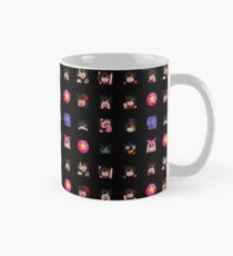 asteyni Emote 16x16 Grid (for L or XL Stickers) (Black Background) Mug
