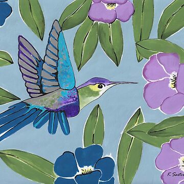Botanical Hummingbird Paradise by kathlesa