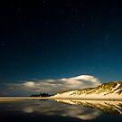 Rarawa beach at night 2 by Paul Mercer