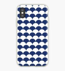 Navy Clamshell Pattern iPhone Case