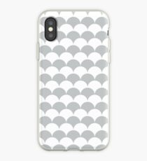 Light Grey Clamshell Pattern iPhone Case