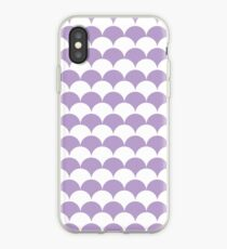 Lavender Clamshell Pattern iPhone Case