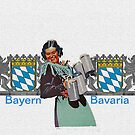 Bavarian Beermaid with Blue and White Heartshield by edsimoneit