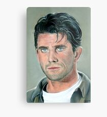 """hand drawing with pastels """"Mel Gibson"""" Metal Print"""