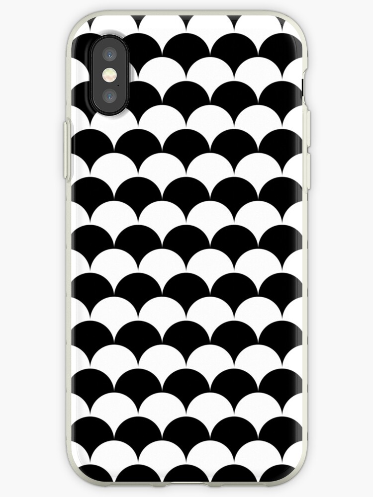 Black Clamshell Pattern by Cool Fun  Awesome Time