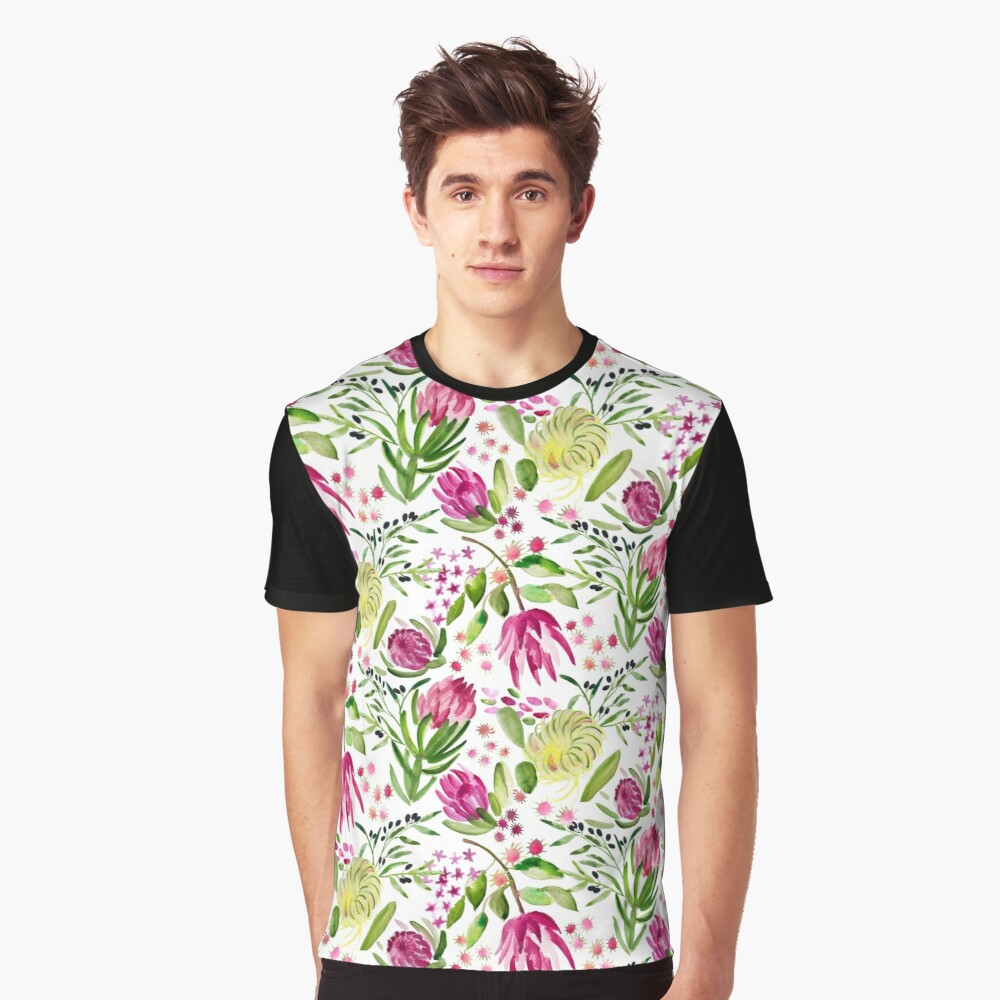 Protea Bloom Floral Graphic T-Shirt
