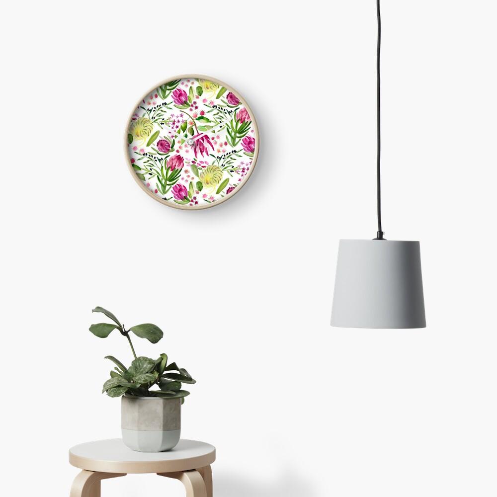 Protea Bloom Floral Clock