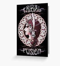Tribal fusion bellydance Greeting Card