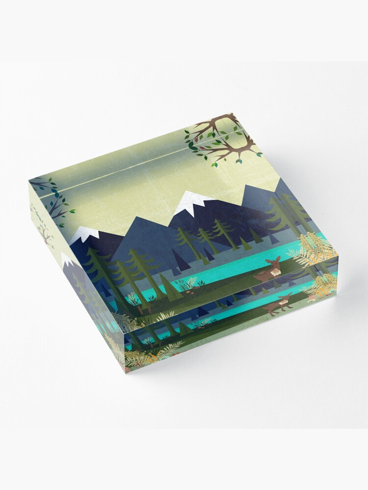 Alternate view of March Acrylic Block