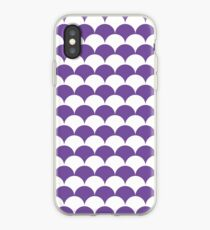 Purple Clamshell Pattern iPhone Case