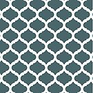 Teal Lattice Pattern by emma60