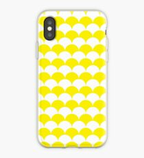 Yellow Clamshell Pattern iPhone Case