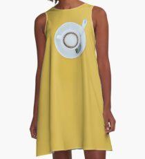 Cofee minimalistic A-Line Dress