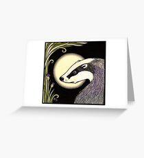 Moon Badger Greeting Card