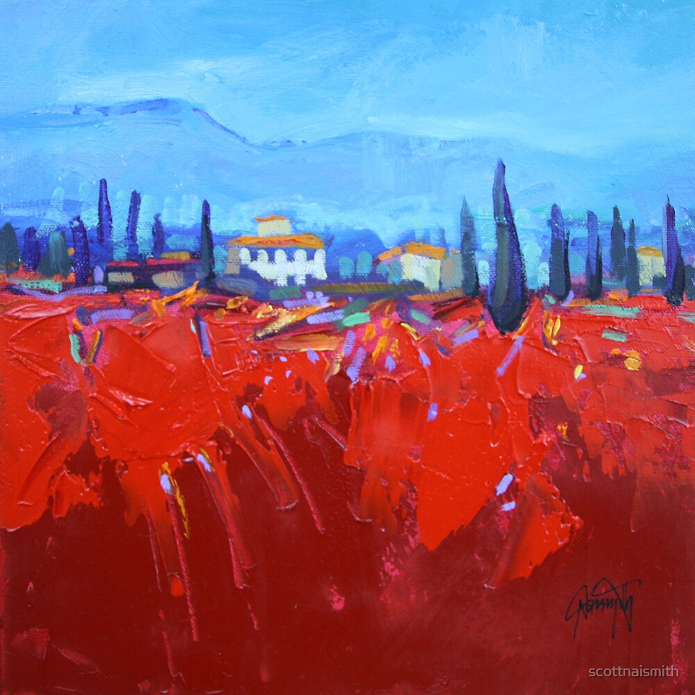 Red Tuscan Study by scottnaismith