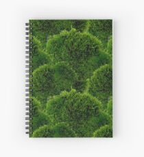 Moss - Green Luscious Mossy Texture - Full on Natural Moss Mounds - Earthy Greens -Turning Moss Green Pattern Spiral Notebook