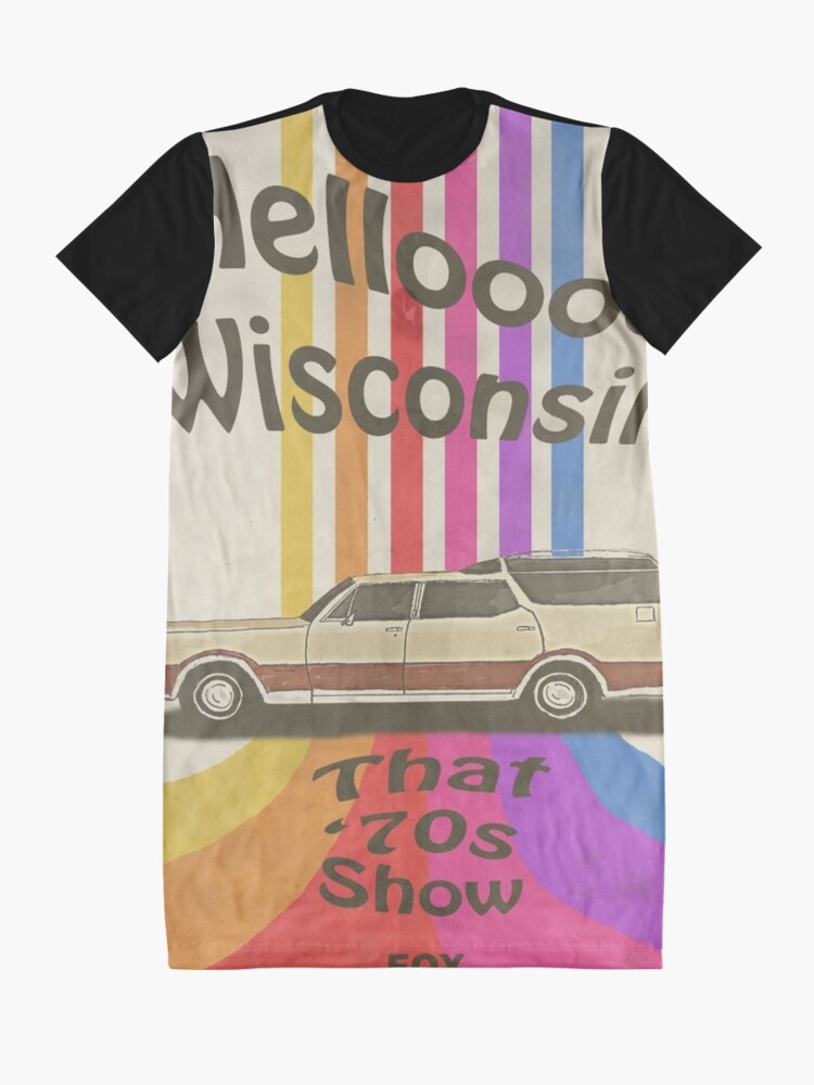 Alternate view of Hello Wisconsin Graphic T-Shirt Dress
