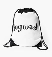 Hogwash the best wizarding school in the world Drawstring Bag