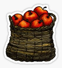 basket of apples Sticker