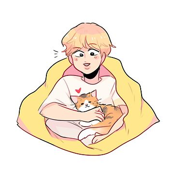 BTS; SERENDIPITY JIMIN & HIS CALICO CAT by randomsplashes