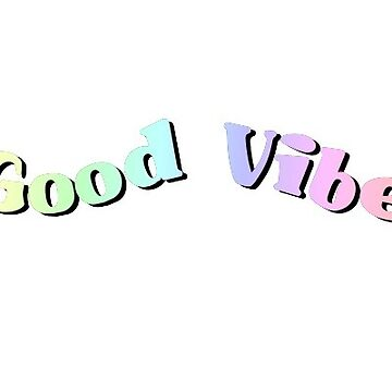 GOOD VIBES RAINBOW WAVE STICKER SAVE THE BEES TYLER THE CREATOR PRIDE EMMA CHAMBERLAIN NICHE REX ORANGE COUNTY CLAIRO PASTEL WAVE AESTHETIC HOLOGRAPHIC HAWAII PURA VIDA  by KOTTNKANDY