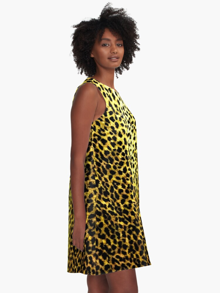 'Leopard Wallpaper Animal Print' A-Line Dress by yonni