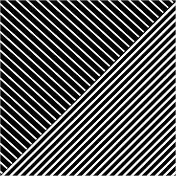Black and white triangle stripes by hellcom