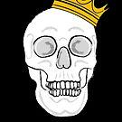 Skull & Crown ( Black Version ) by Adam Regester