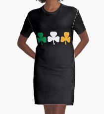 Ireland Shamrock Flag Graphic T-Shirt Dress