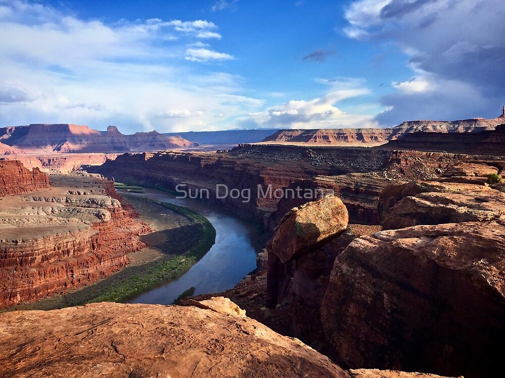 A Bend in the River. by Sun Dog Montana