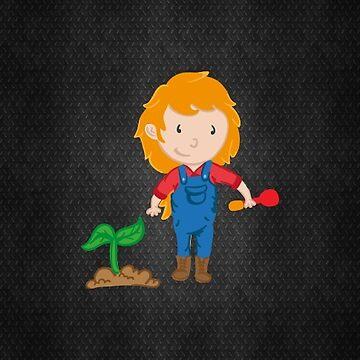 Farm Girl Carrot by teeprintsio