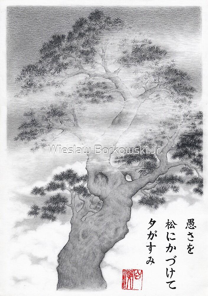 Pine in the mist haiku by Wieslaw Borkowski Jr.