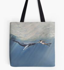 The Creation of Adam the Whale Tote Bag