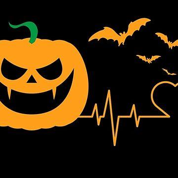 Halloween Pumpkin Heartbeat EKG by lifestyleswag