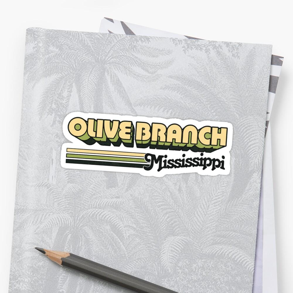 Olive Branch, MS   City Stripes by retroready
