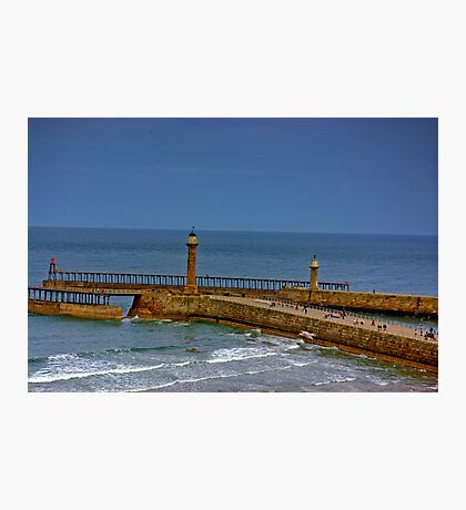 Whitby Harbour Lights Photographic Print