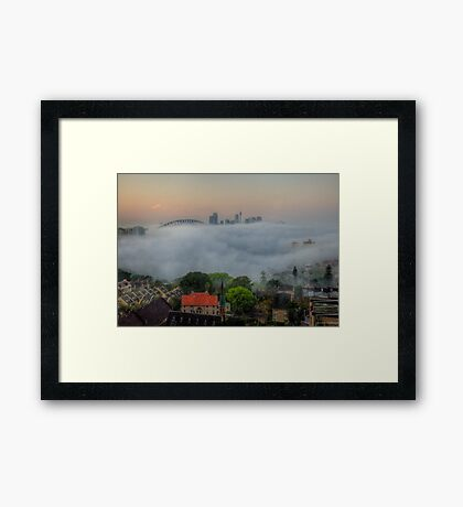 Hide and Seek - Moods Of A City - The HDR Experience Framed Print