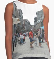 Montreal, People, street, city, crowd, walking, urban, old, architecture, road, building, travel, shopping, traffic, blur, walk, business, tourism, woman, london Contrast Tank