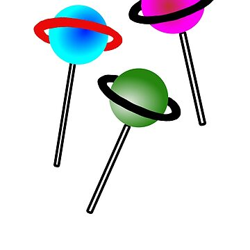 Lollipop Lollipop Lollipop Planet Illustration by yoddel