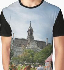 architecture, church, building, city, europe, old, tower, town, castle, panorama, house, cathedral, travel, sky, landmark, medieval, view, historic, cityscape, panoramic, river, tourism, spain, palace Graphic T-Shirt