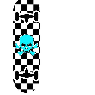 Checkered Checker Checkerboard Black & White by theboujeebunny