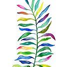 Regenbogen-tropisches Blatt von noondaydesign